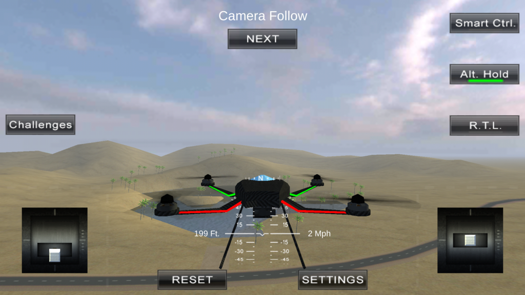 screenshot from drone simulator, one of the best apps for drones