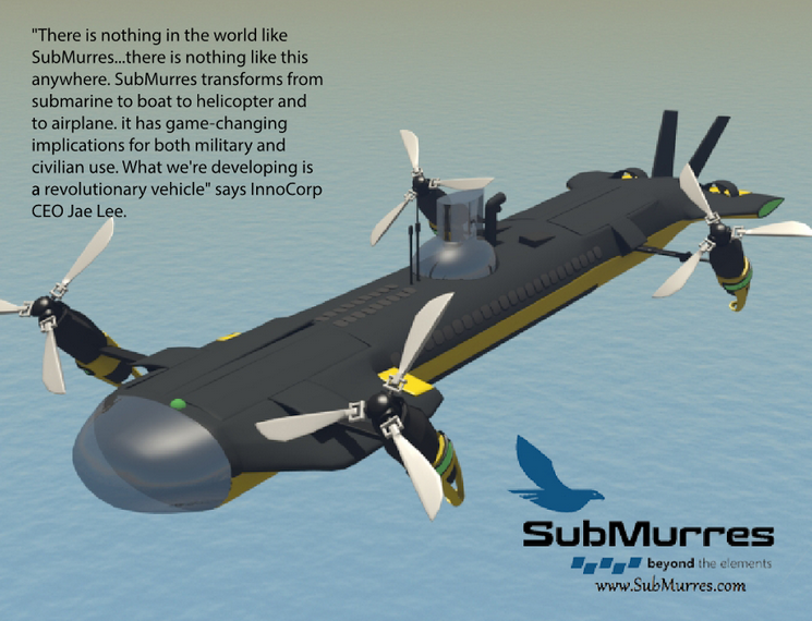 InnoCorp, LLC Announces SubMurres – It Swims and Flies