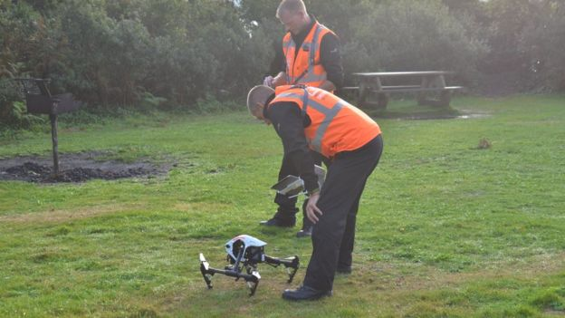 A local fire crew using drones to discover hornet's nests in Jersey.