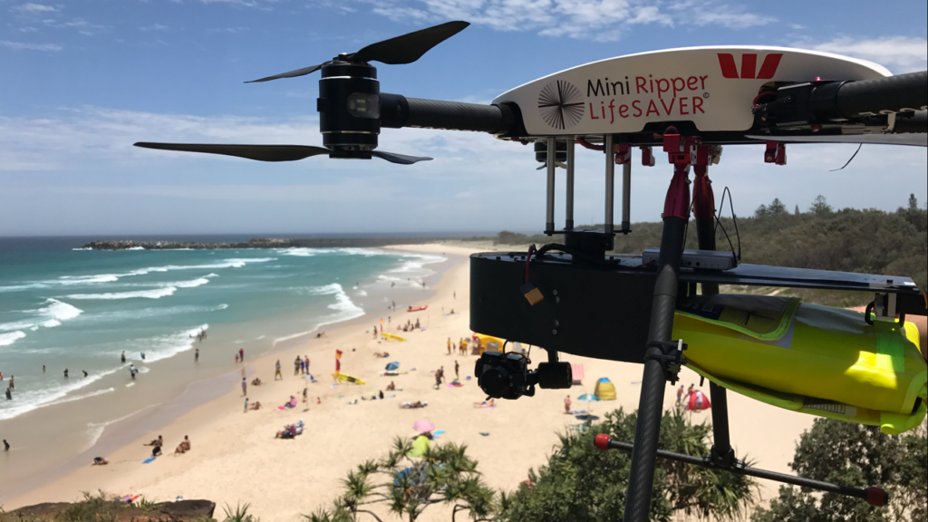 westpack little ripper drone saves lives in australia