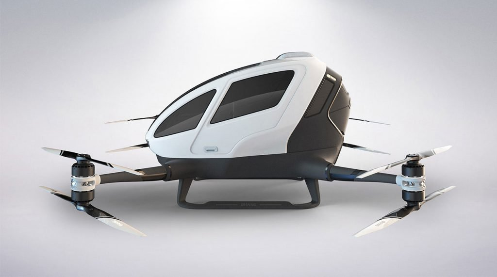 Watch: Ehang's 184 in Manned Flight Tests