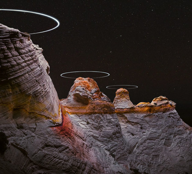 """Say What? Drones Used as a Light Source Help Create """"Mountai…"""