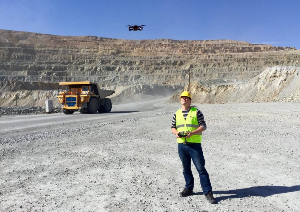 upvision mapping a mine in mongolia dji mavic air