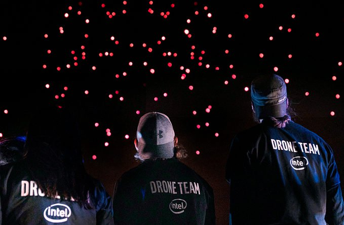 intel drone light show 50th anniversary