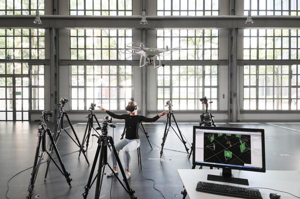 flying a drone with your torse epfl