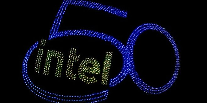 Intel Sets New Drone Light Show Record at 50th Anniversary P…