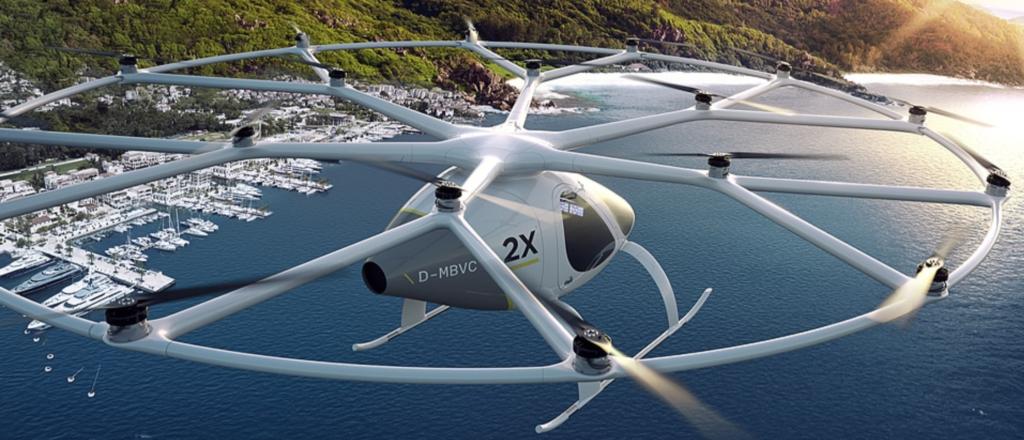 intel volocopter passenger drone