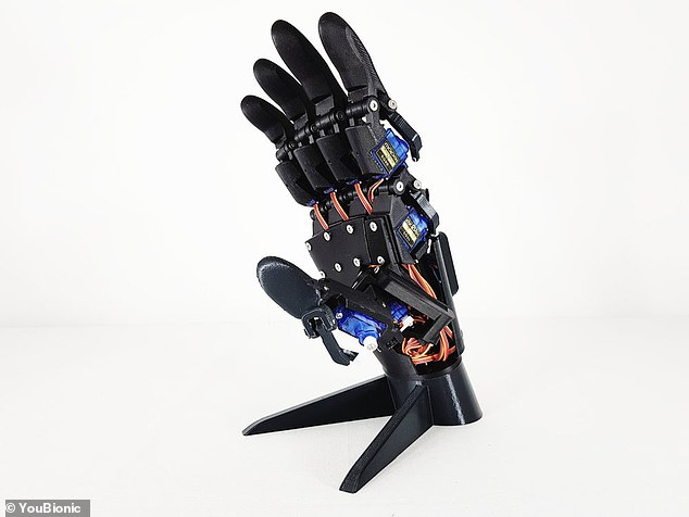 The hand-fitted drone is not yet available from the company's store, however the 3D printing files for just the hands retail at $169