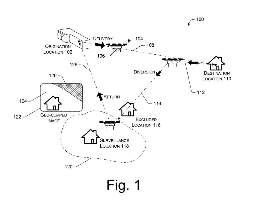 Surveillance drones patent figure