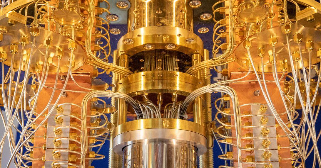 IBM Q quantum computer close-up