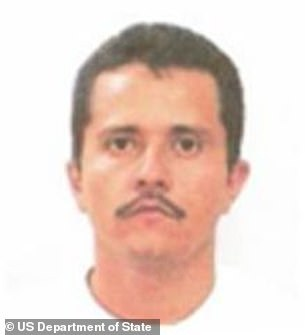 Nemesio 'El Mencho' Oseguera Cervantes (pictured) is the top boss of CJNG