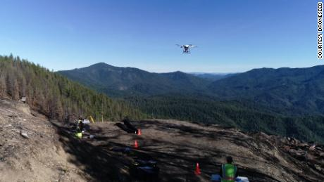 The drone swarms fly on pre-programmed routes identified using 3D sensing technology.