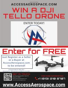 Register at AccessAerospace.com to be entered to WIN a DJI Tell Drone!